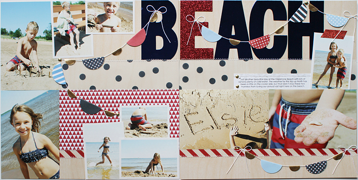 {Beach} Double Layout by Shelly Jaquet