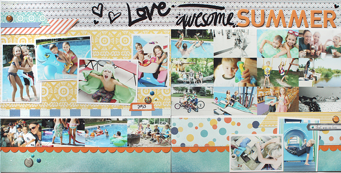 Summer {Anatomy of a Double Page Layout} by Shelly Jaquet