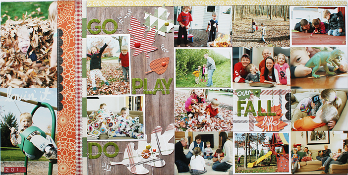 Our Fall Life {Anatomy of a Double Page Layout} by Shelly Jaquet