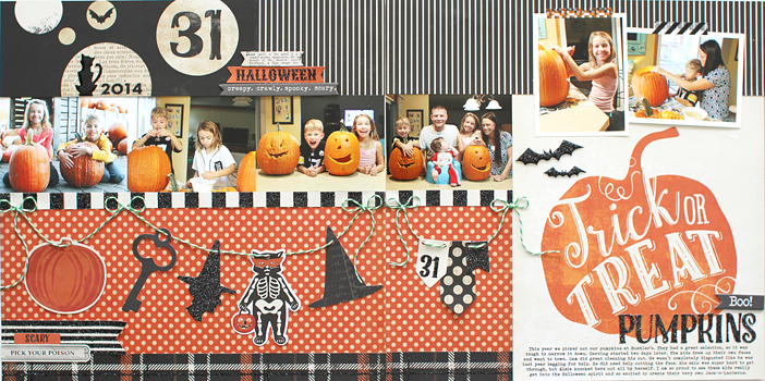 Pumpkins Double Page Layout by Shelly Jaquet