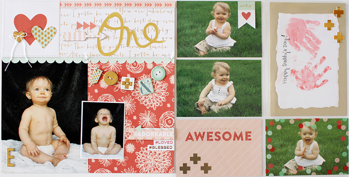 One {Anatomy of a Double Page Layout} By Shelly Jaquet for My Mind's Eye